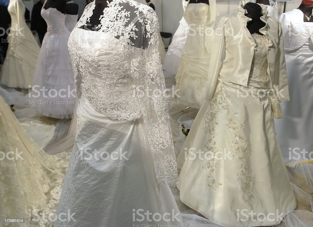 Wedding dresses royalty-free stock photo