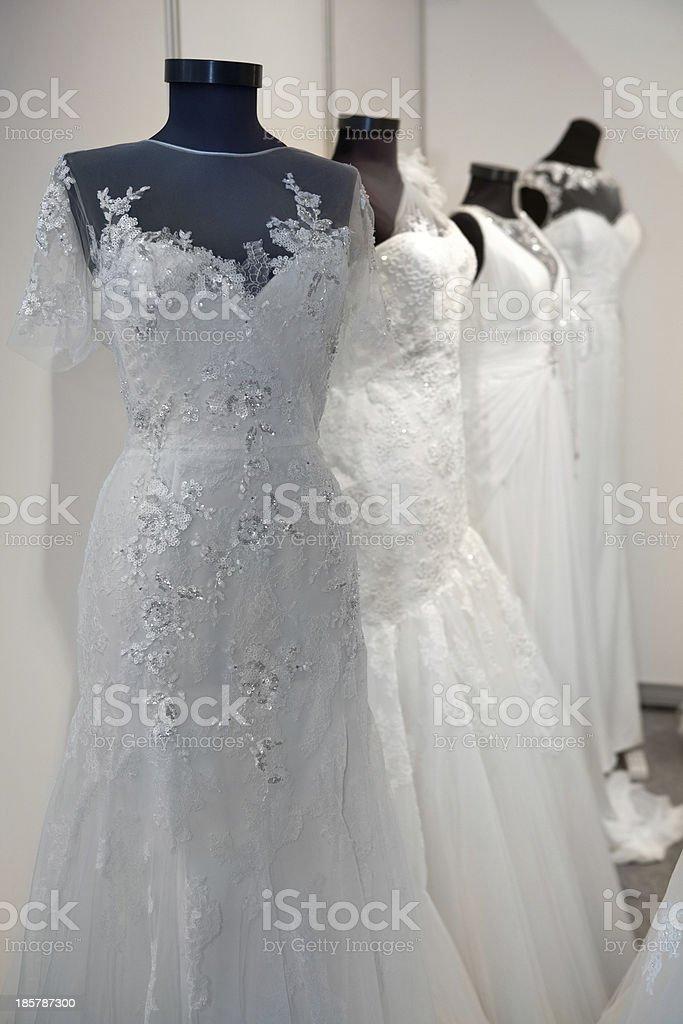 Wedding dresses stock photo