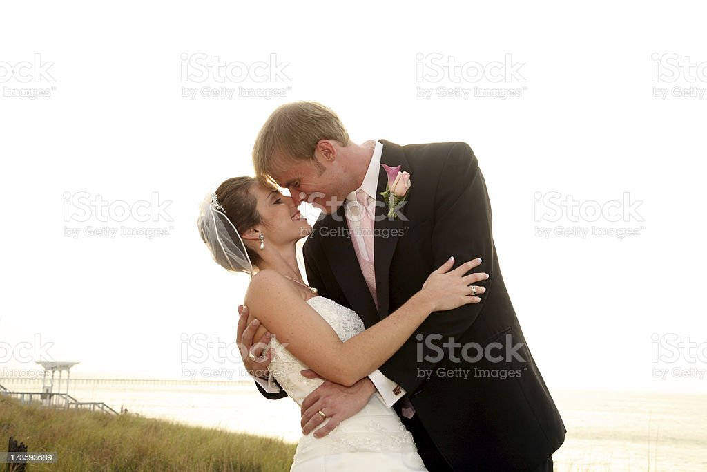 Wedding embrace (gassian blur added) royalty-free stock photo