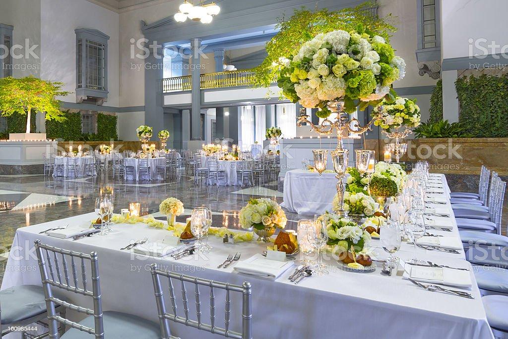 Wedding Event Decorations stock photo