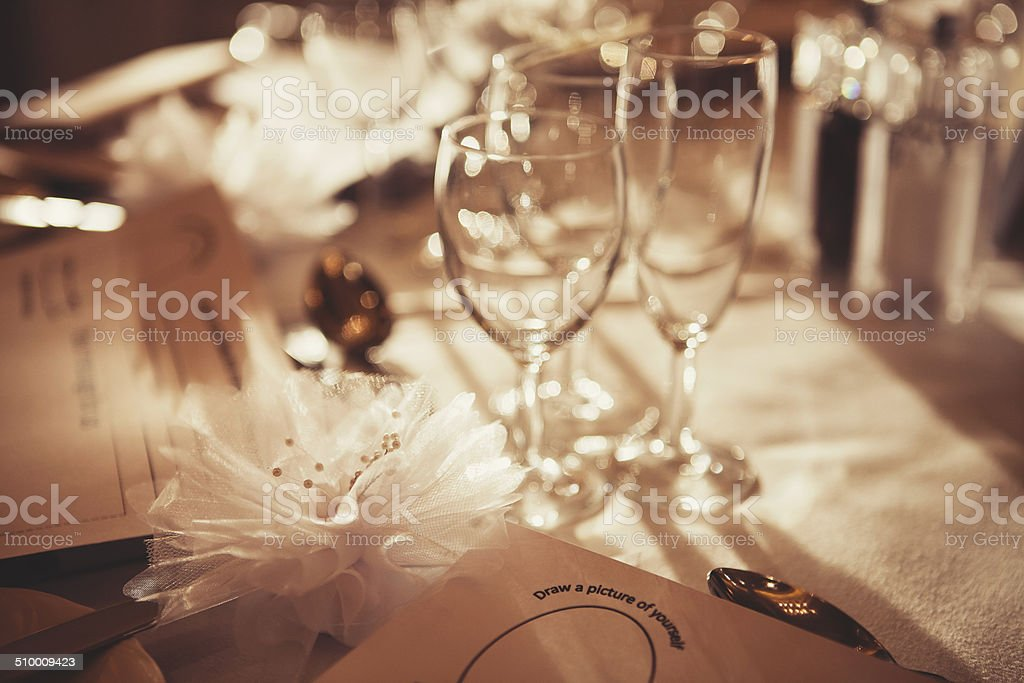 Wedding favours stock photo