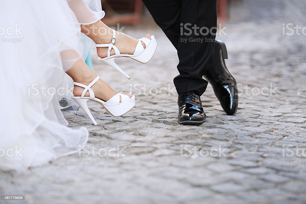 wedding feet stock photo