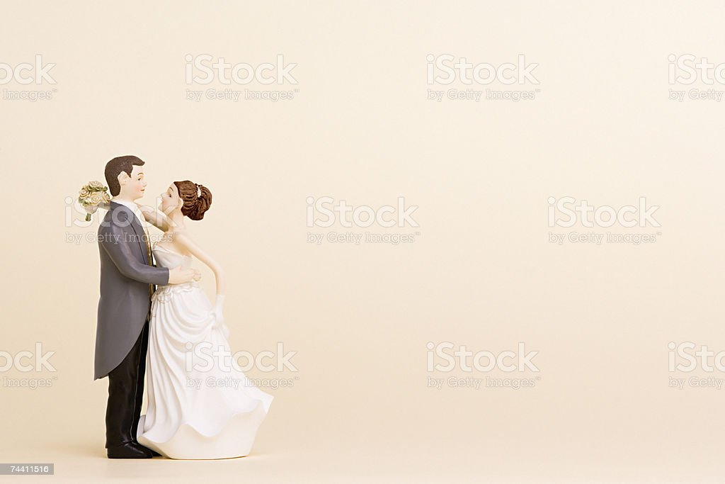 Wedding figurines stock photo