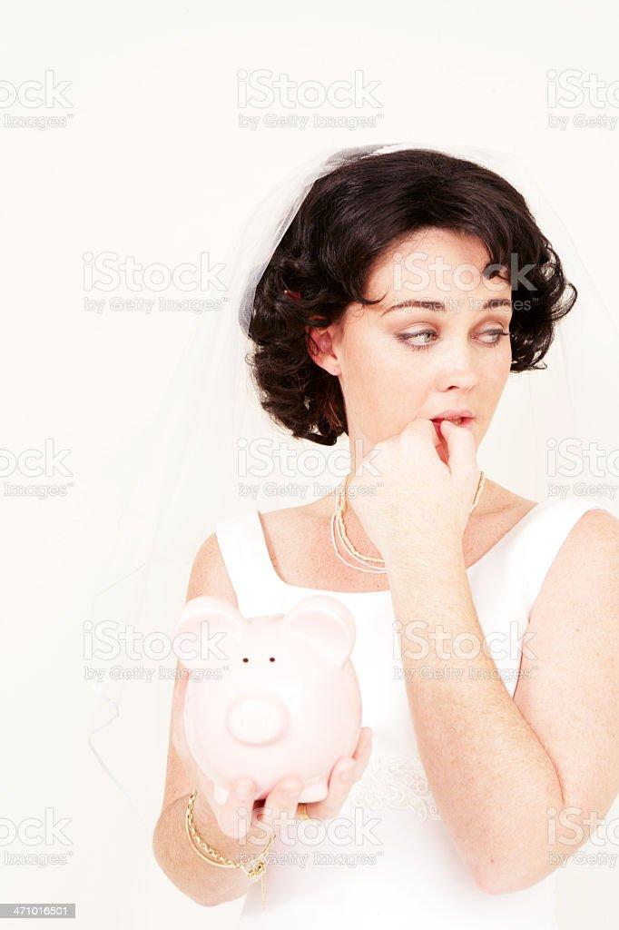 Wedding Finances stock photo