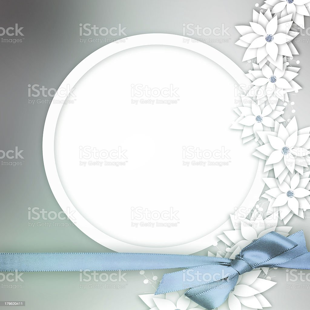 Wedding floral card stock photo