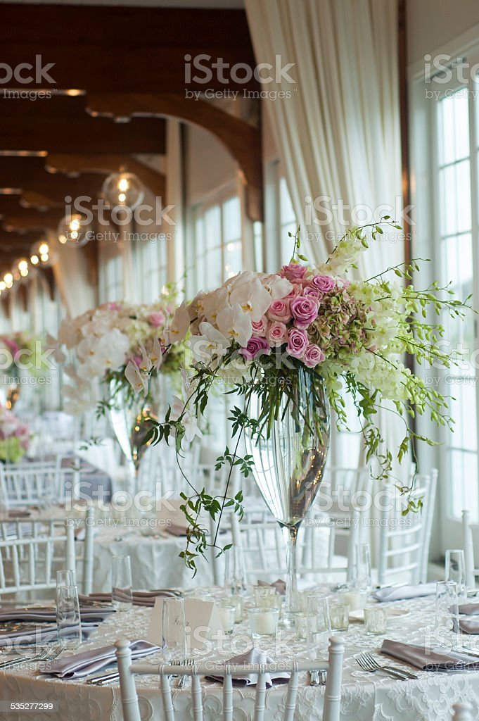 Wedding floral centerpiece stock photo