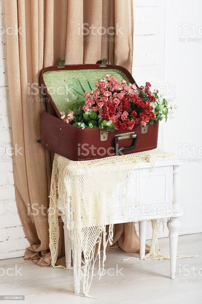 Wedding floral rose decor composition stock photo
