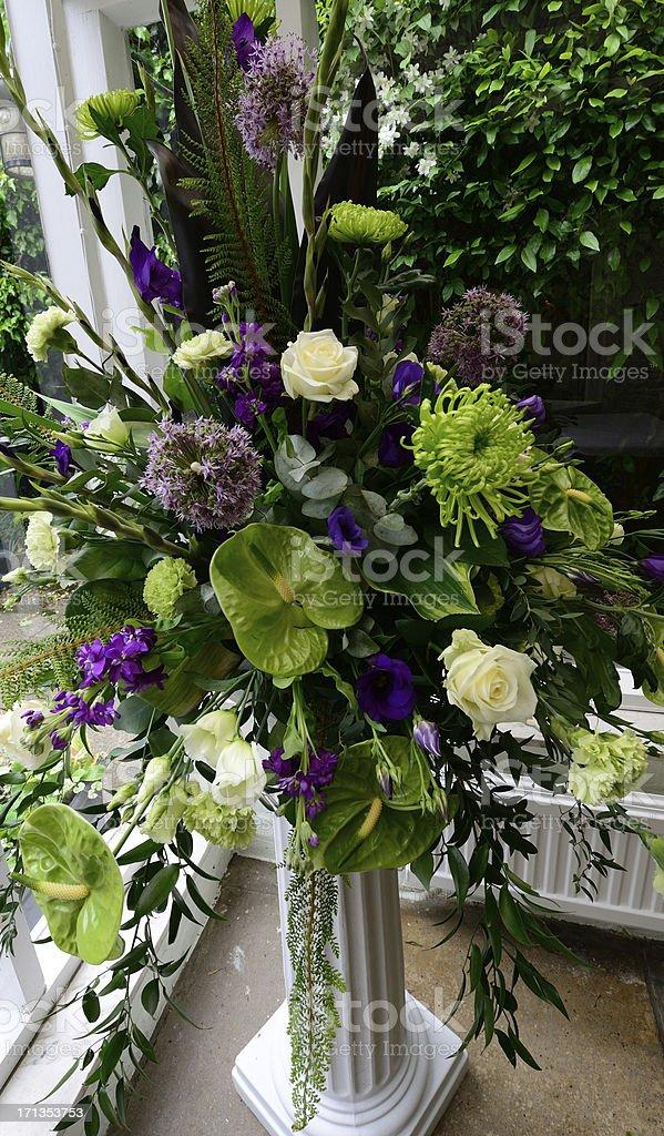 Wedding flower arrangement. royalty-free stock photo