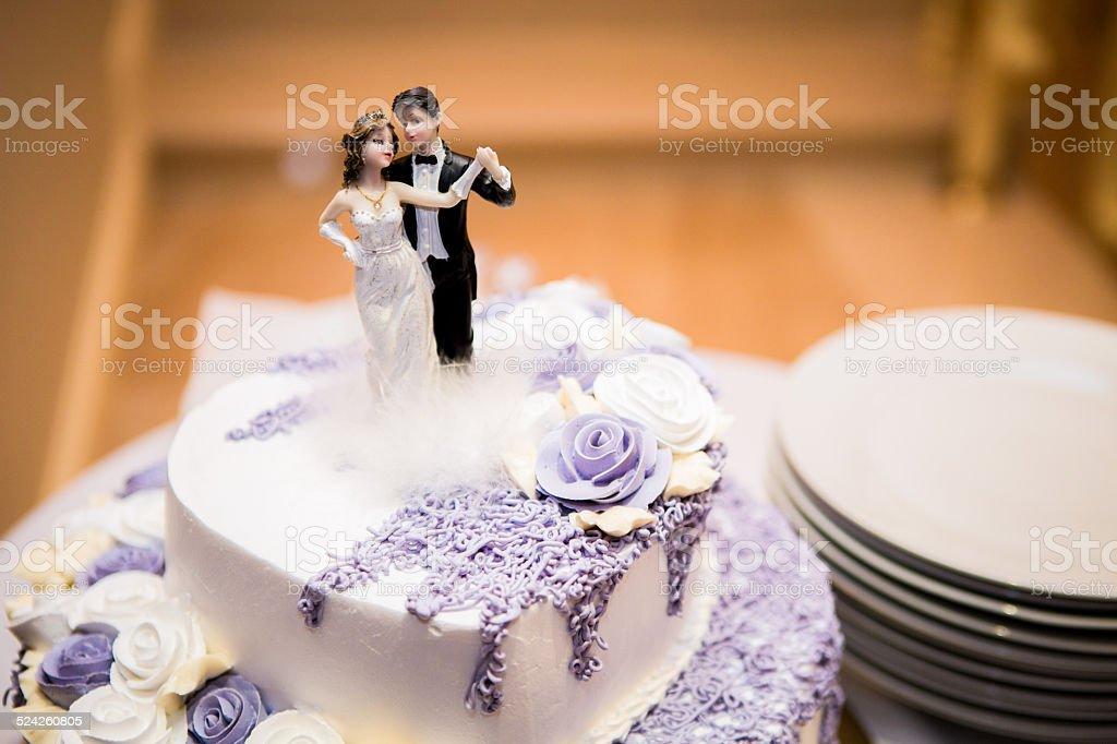 Wedding Flower Cake royalty-free stock photo