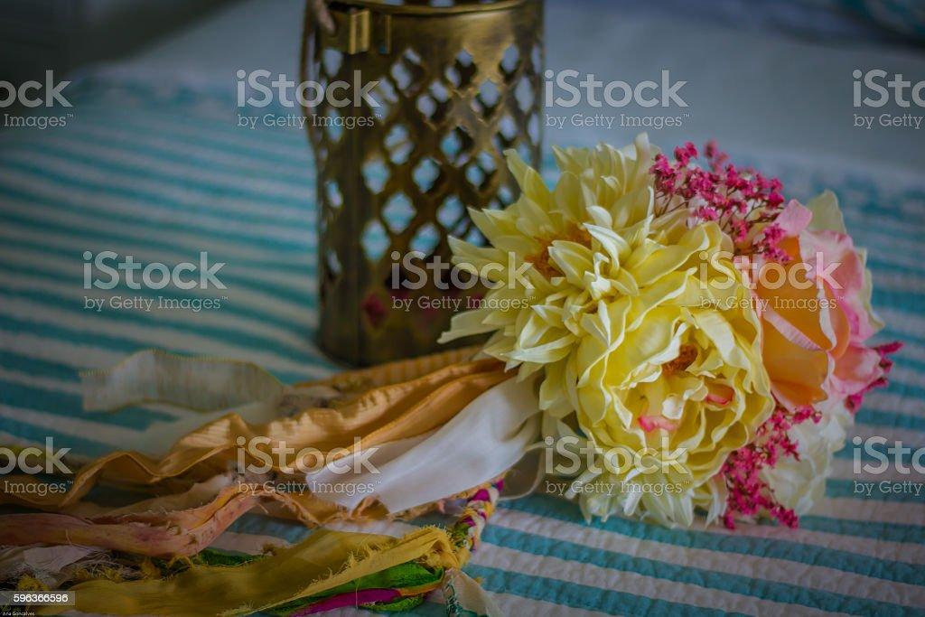 Fleurs pour un mariage  photo libre de droits