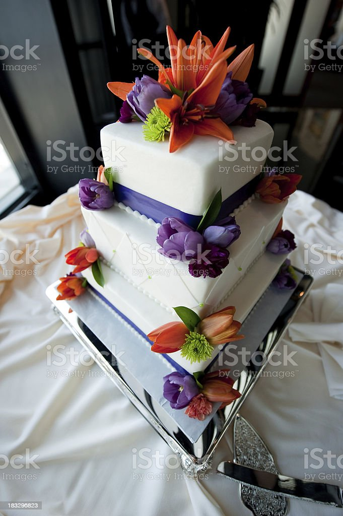 Wedding fondant cake royalty-free stock photo