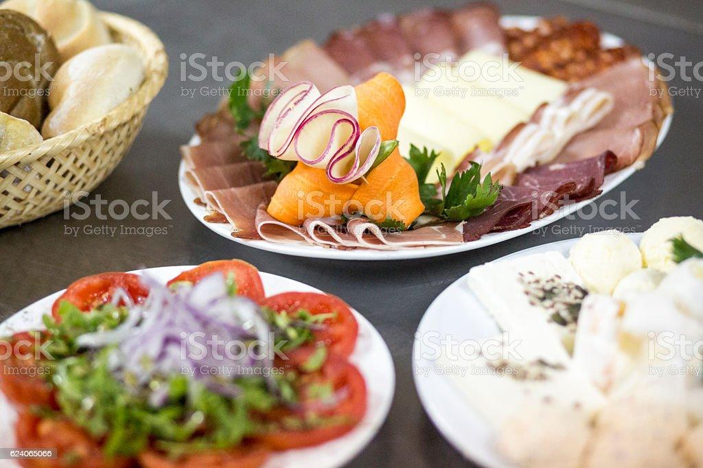 Wedding Food Arrangement stock photo