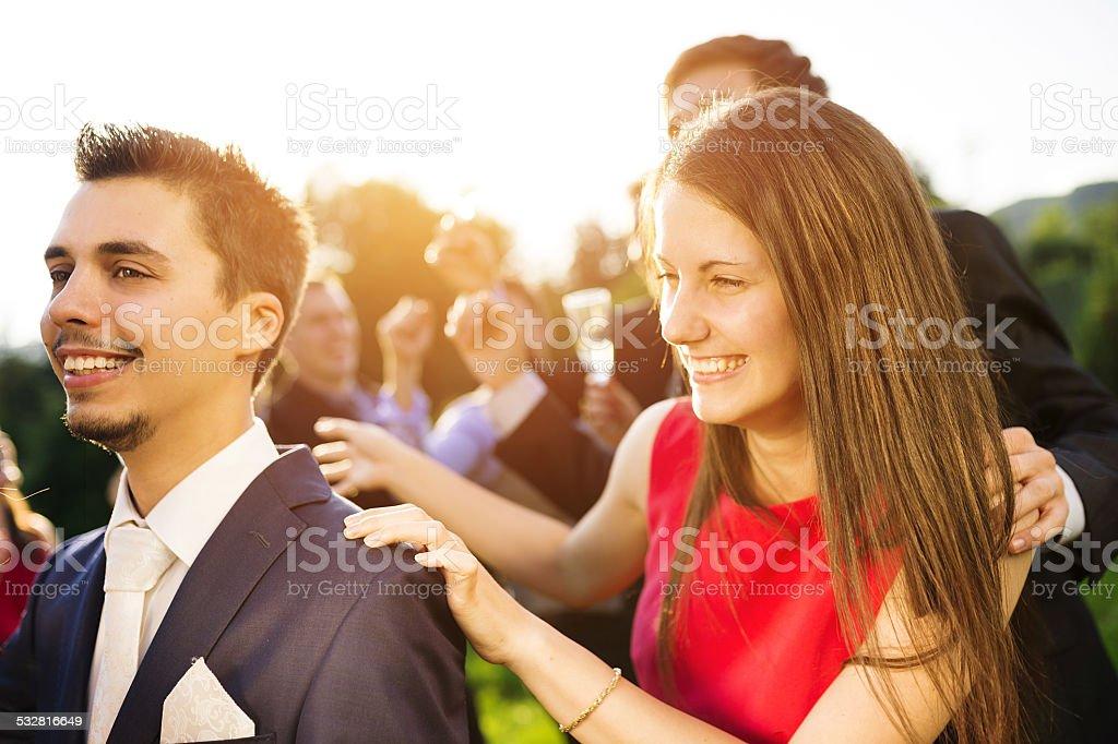 Wedding garden party stock photo