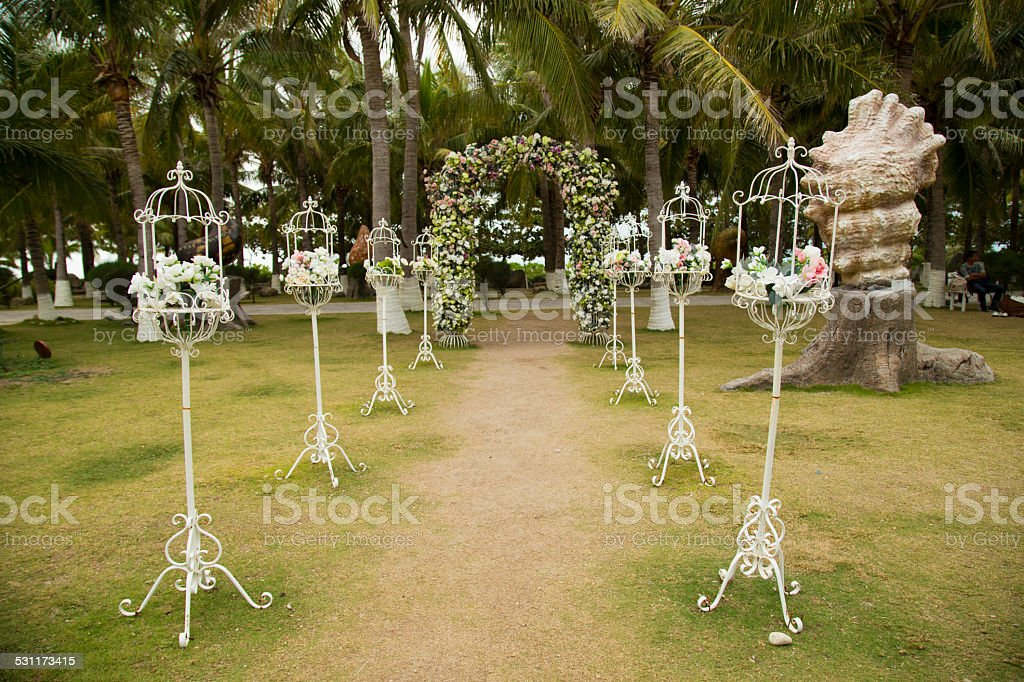 Wedding, Garland, Arch, White, Beauty, Beautiful, stock photo