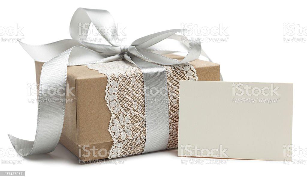 Wedding gift box stock photo