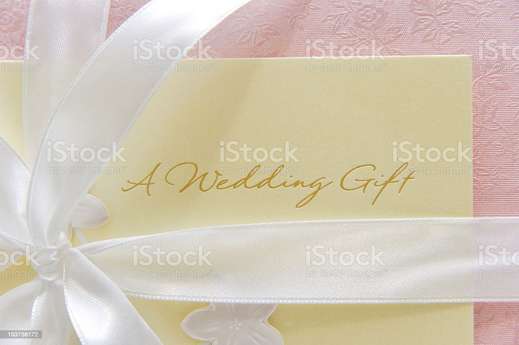 Wedding gift card stock photo