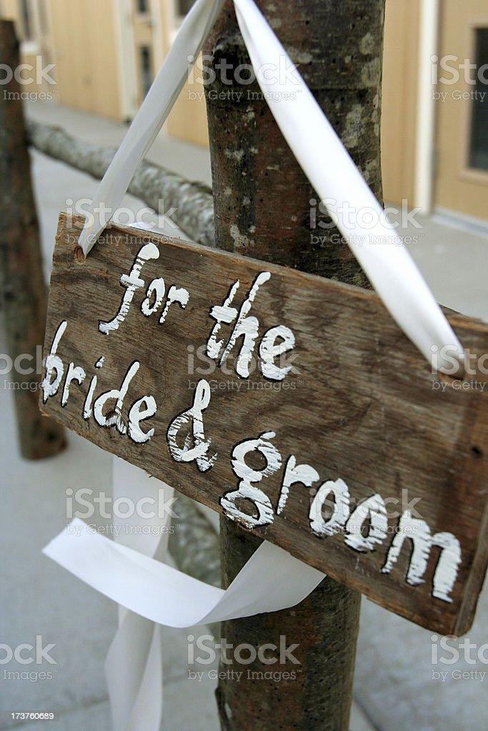Wedding Gift Sign stock photo
