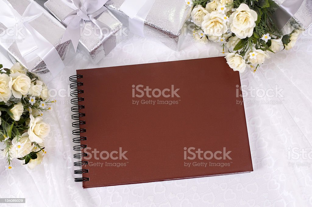 Wedding gifts and photo album royalty-free stock photo