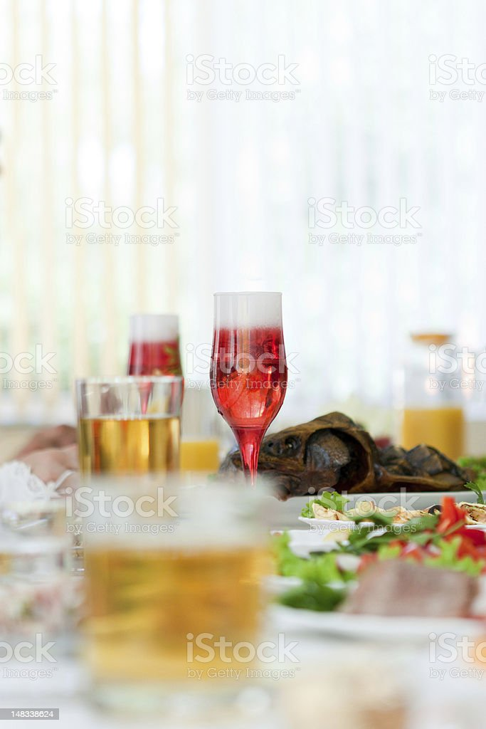 wedding glass of champagne royalty-free stock photo