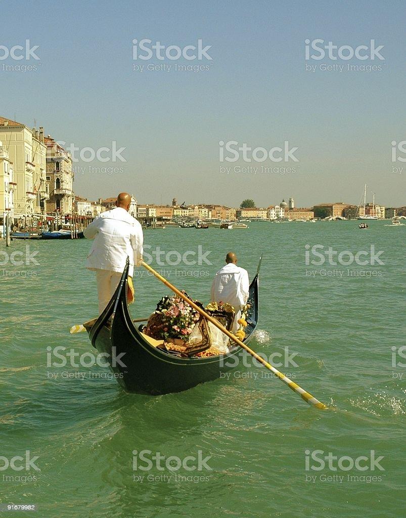 Wedding Gondola, Venice, Italy. royalty-free stock photo