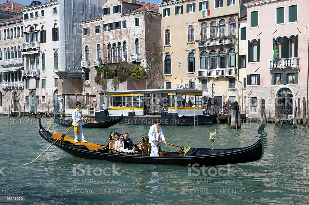 Wedding Gondola, Venice royalty-free stock photo