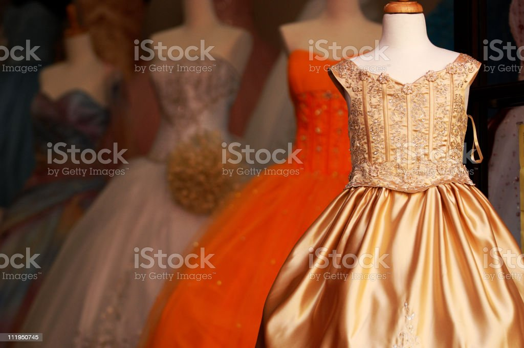 Wedding Gowns and Quinceanera Dresses stock photo