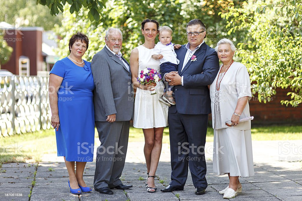 Wedding group photo royalty-free stock photo