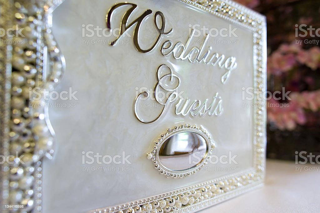 Wedding Guest Book Closeup Detail royalty-free stock photo