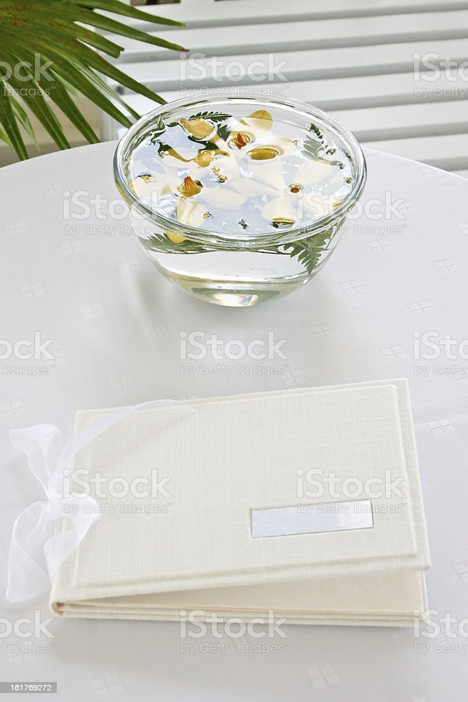 Wedding guest book. royalty-free stock photo