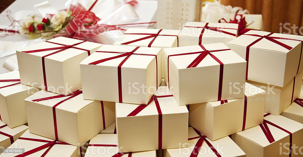 Wedding guest gift. royalty-free stock photo