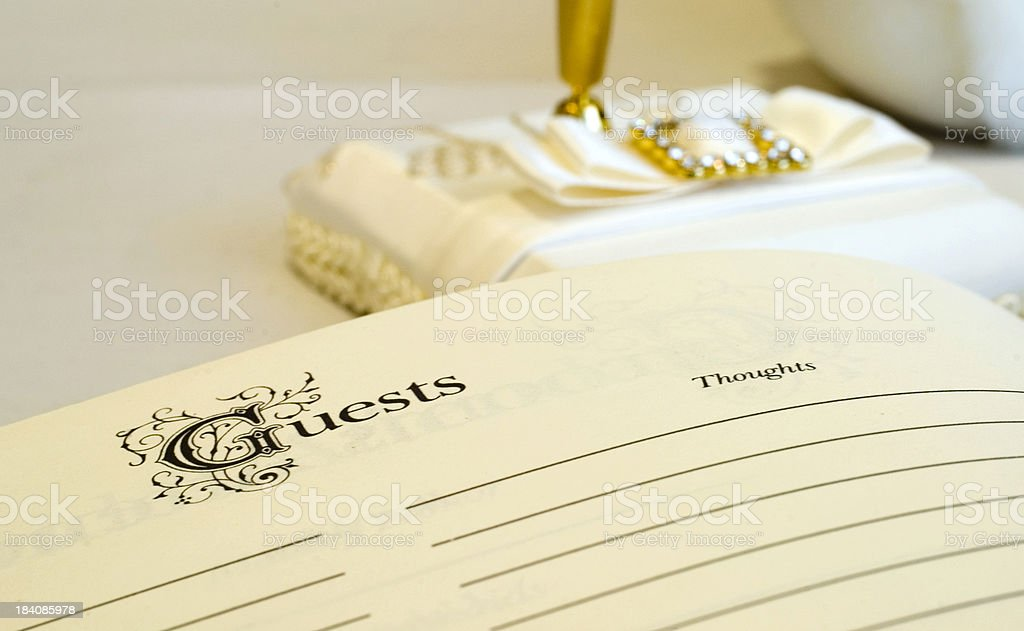 Wedding Guest List royalty-free stock photo