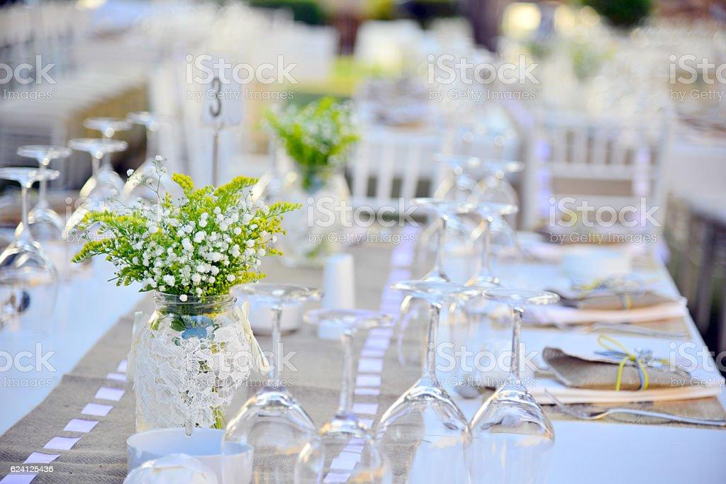 Wedding guest setup stock photo