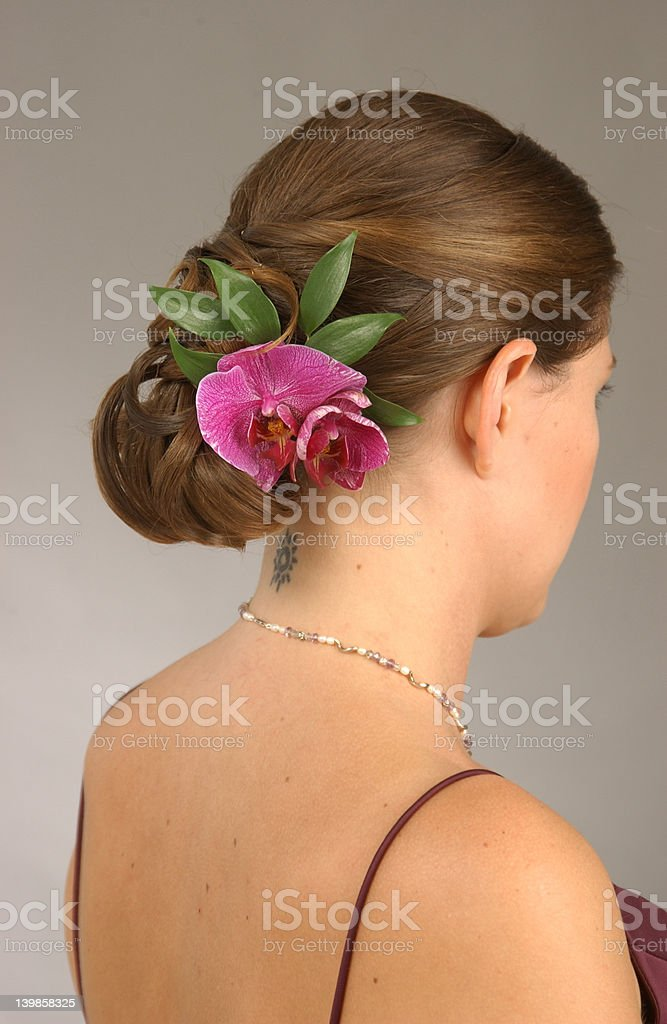 Wedding Hairstyle - Flower Updo royalty-free stock photo