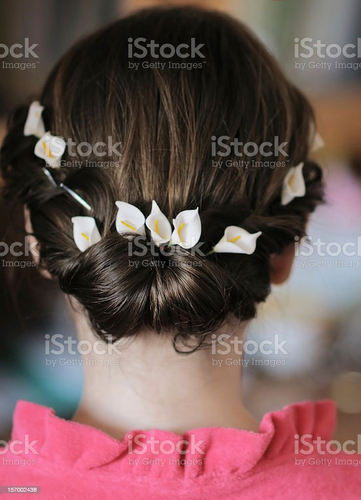 Wedding hairstyle royalty-free stock photo