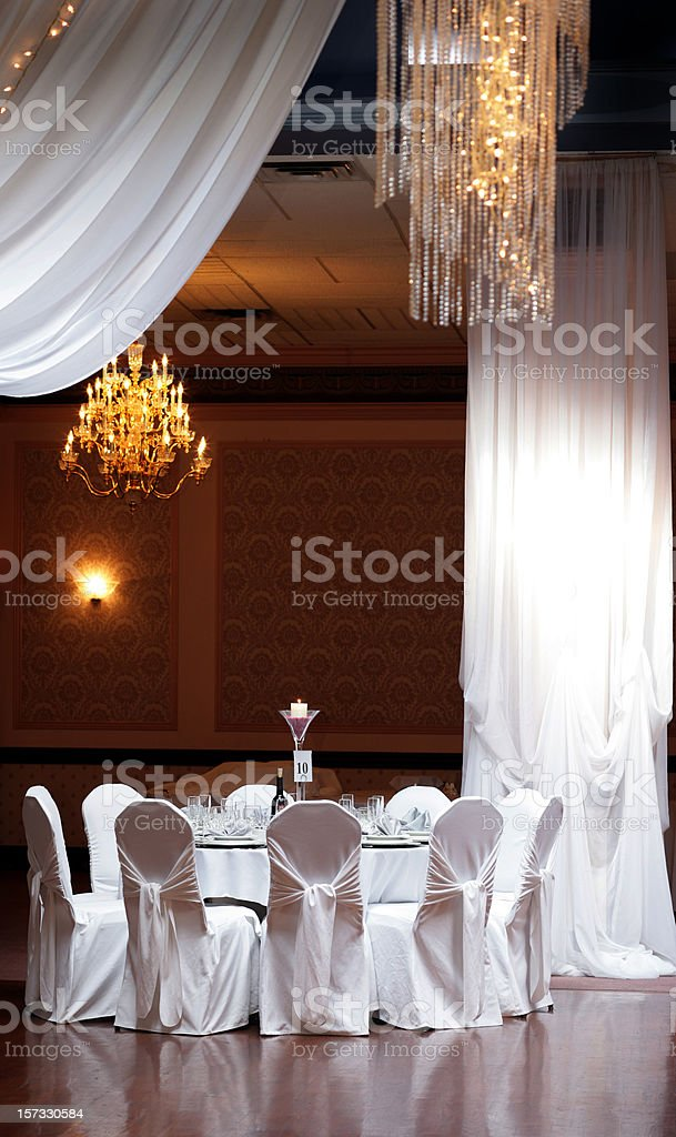 Wedding Hall before Diner stock photo