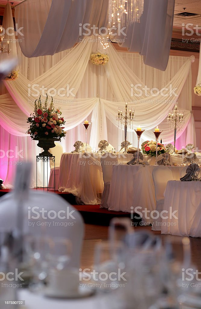 Wedding Hall before Diner royalty-free stock photo