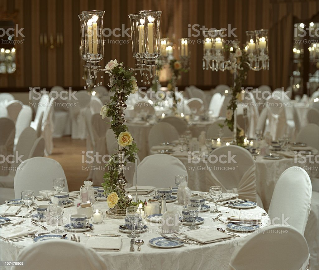 Wedding Hall before Dinner royalty-free stock photo