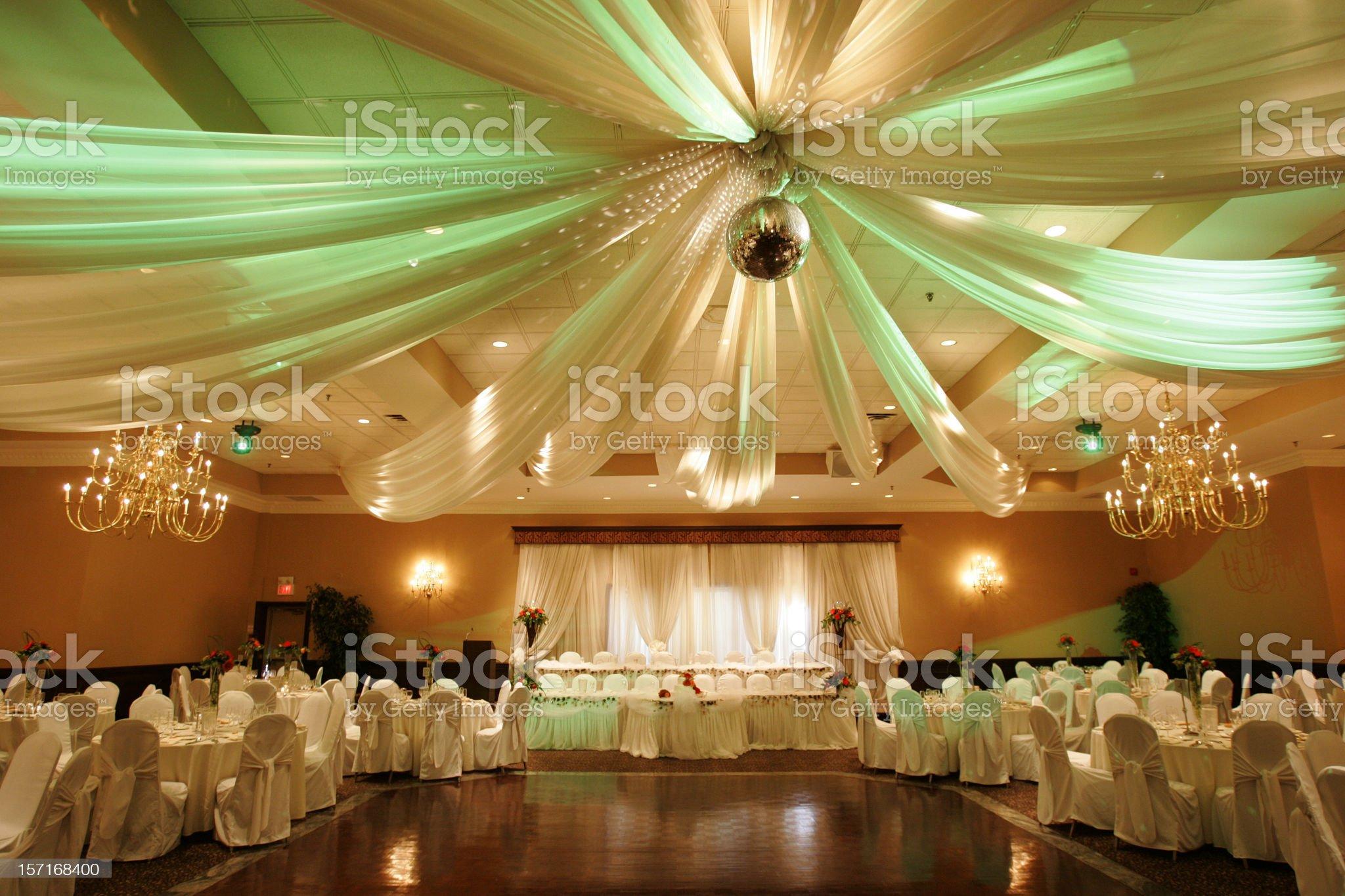 Wedding hall interior royalty-free stock photo