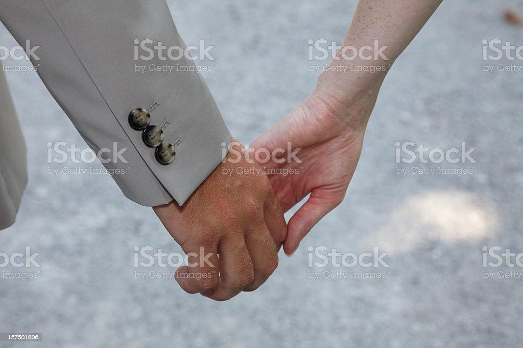 Wedding - hands royalty-free stock photo