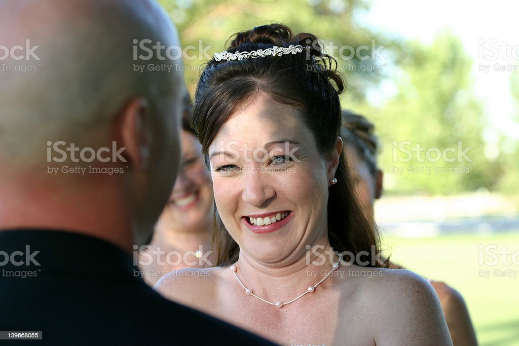 Wedding Happy Bride royalty-free stock photo