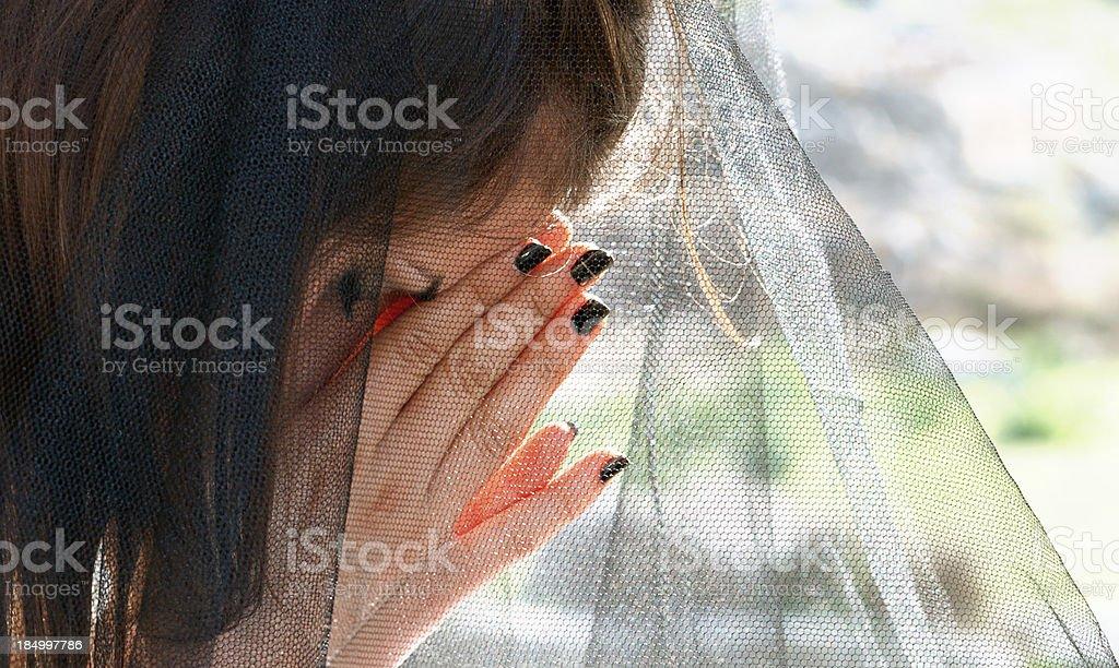 wedding headache royalty-free stock photo