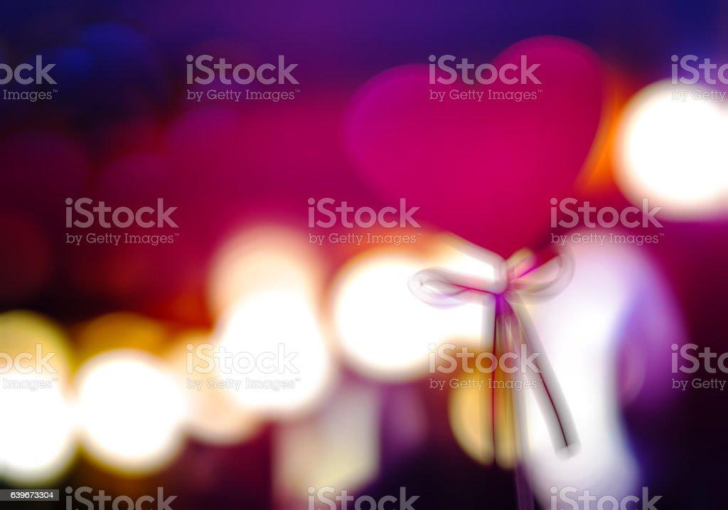 Wedding heart blurred bokeh backdrop stock photo