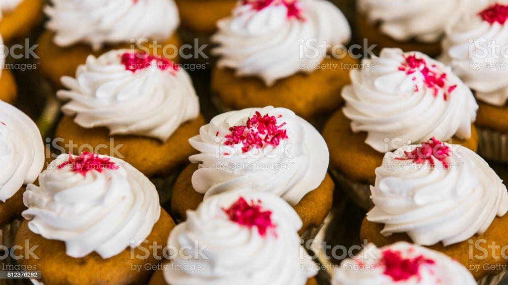 Wedding Holiday cupcakes stock photo