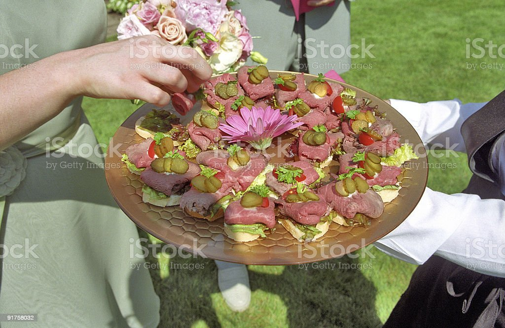 Wedding Hors d'oeuvres royalty-free stock photo