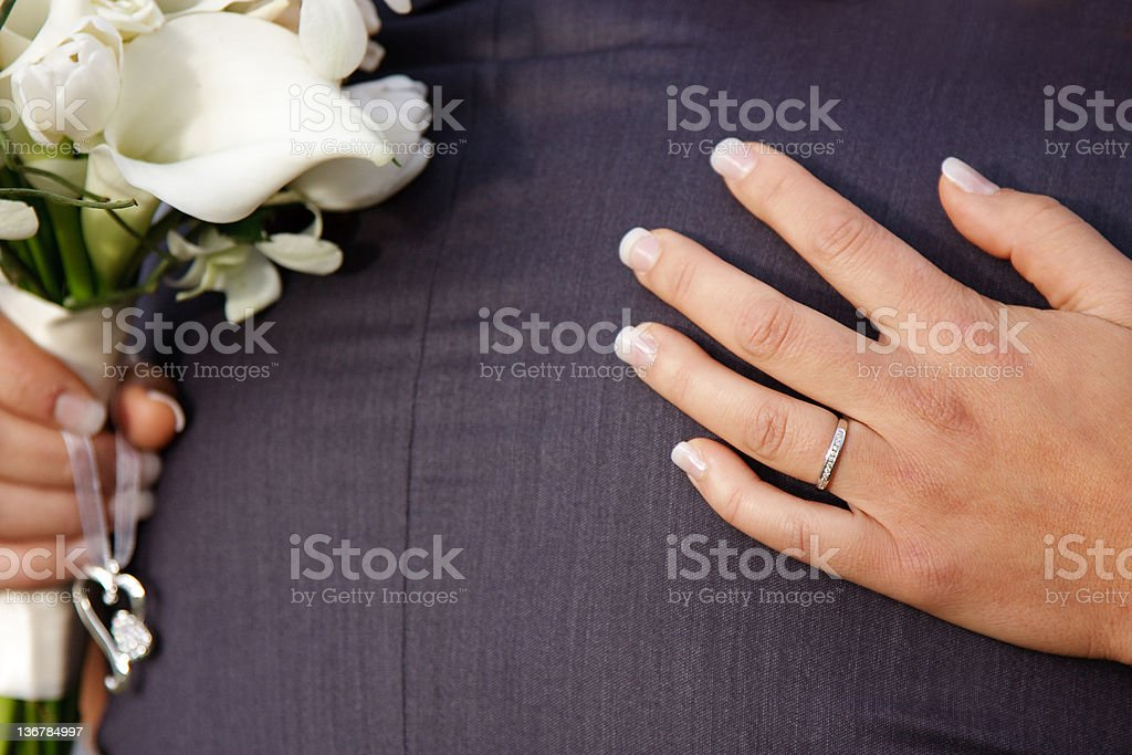 Wedding hug stock photo
