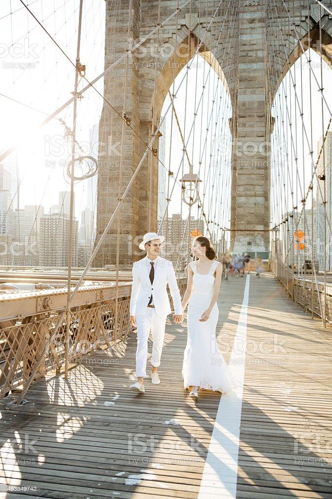 Wedding in NYC stock photo