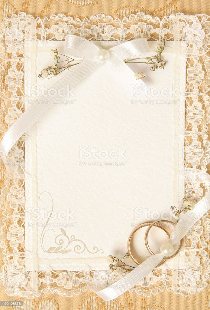 wedding invitation card royalty-free stock photo