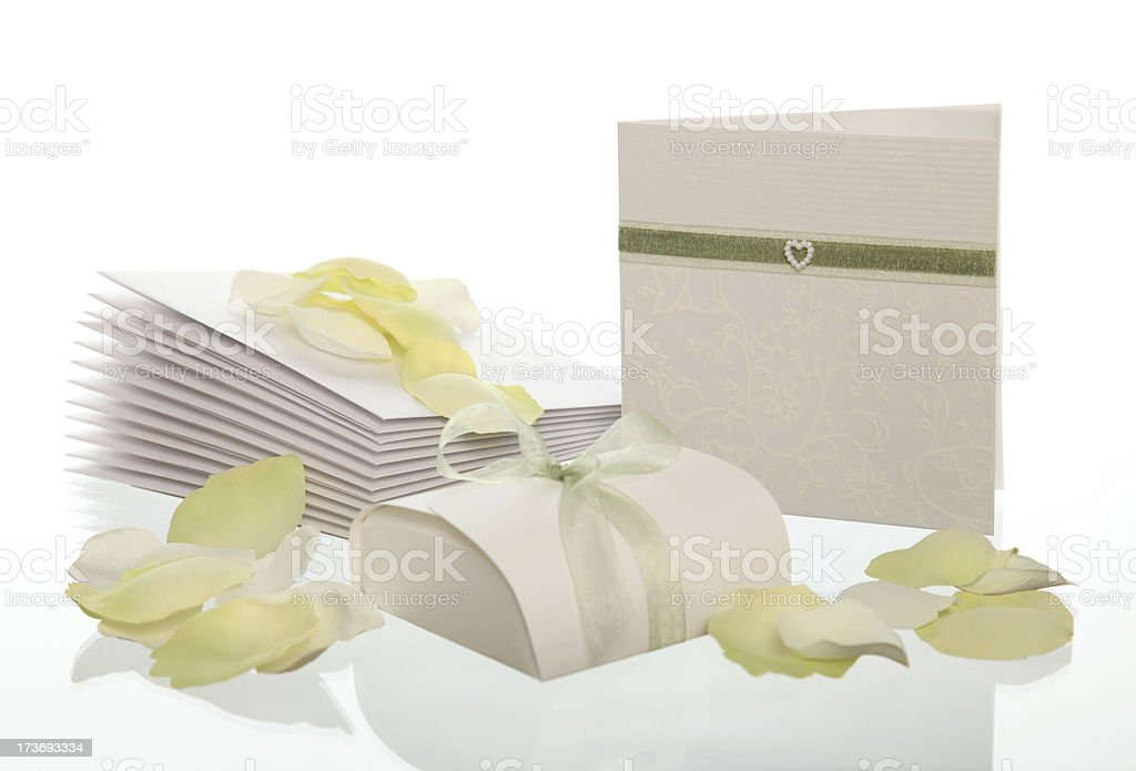 Wedding invitation cards royalty-free stock photo