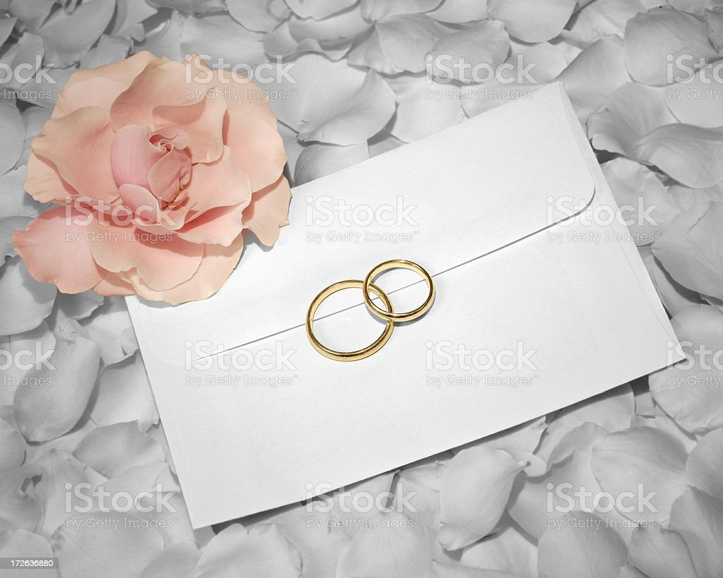 Wedding invitation. stock photo