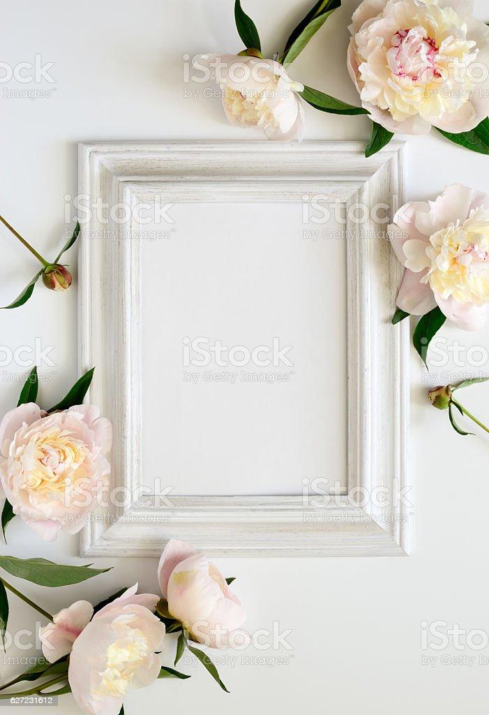 Wedding invitation stock photo